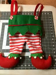 elf stocking elf pants embroidered christmas stocking