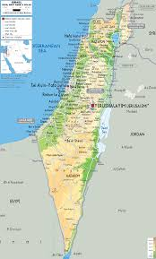 Geography Map Israel Physical Map Geography Map Of Israel Israel Physical Map
