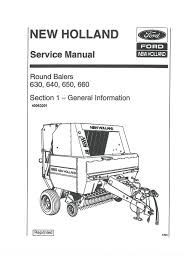 new holland round baler 630 640 650 u0026 660 workshop service manual
