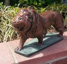Cat Garden Decor Realistic Wild Cat Lion Cougar Resin Sculpture Statue Home Garden