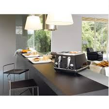 De Longhi Kettle And Toaster Delonghi Icona Retro 4 Slice Toaster Black Cto4003bk Around The