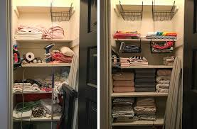 organizing the linen closet making it lovely