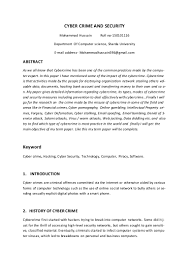 Computer Security Incident Report Template by Research Paper On Cyber Security
