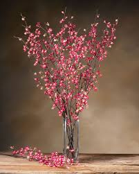 cherry blossom flowers cherry blossom silk flower stems for casual decorating at petals