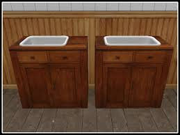 Decoration Cupboard Second Life Marketplace Re Old Wood Cupboard W Sink Set