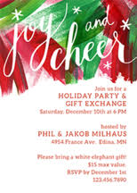 custom holiday party invitations paper source
