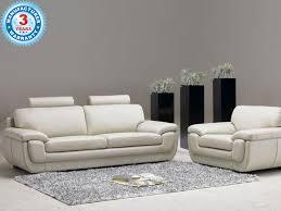buy leyden modern white leather sofa online in hyderabad kolkata