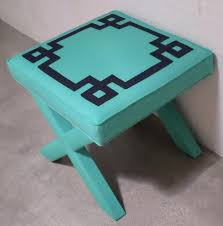 x bench featuring greek key