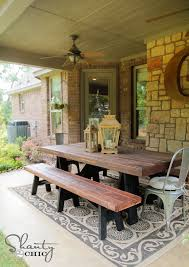 Build Wooden Patio Table by Ana White Sawhorse Outdoor Bench Diy Projects