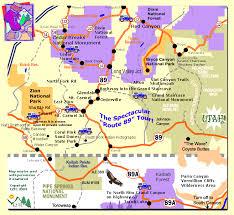 Arizona national parks images Southern utah map northern arizona map utah backpacking trip gif