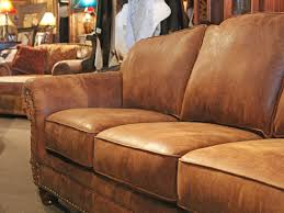 High End Leather Sofas Rustic Leather Sofa Western Brown Leather Couch