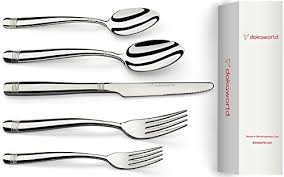 kitchen forks and knives dokaworld silverware set 18 10 stainless steel delicate flatware