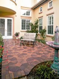 Backyard Pavers Design Ideas Graceful Small Backyard With Natural Paving Stone Patio Paver Feat