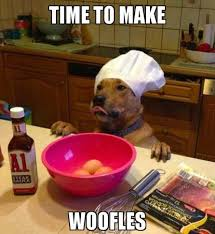 Dog Bacon Meme - omg this looks like milton derek always make a special waffle
