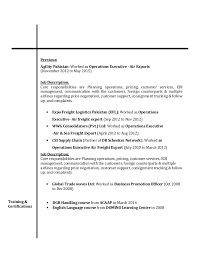 Logistics Job Description Resume by Resume Fahad Khalid