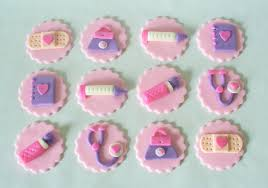 doc mcstuffins cake toppers doc mcstuffins tools inspired sparkly fondant cupcake toppers