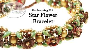 youtube bead bracelet images Beadweaving star flower bracelet jpg