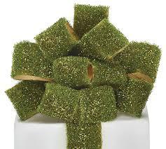 moss ribbon 1 1 2 w x 5yds green glitter moss ribbon