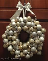 our sparkling silver and decor ornament wreath