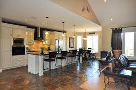 open plan kitchen dining living room modern inspirational home