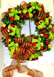 mesh ribbon wholesale door wreath of packages with mesh ribbon designed for tri state