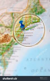 City Map Glasses Blue Tack On Map Eastern Usa Stock Photo 252896257 Shutterstock