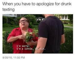 Drunk Texting Meme - when you have to apologize for drunk texting i m sorry i m a