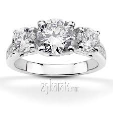 eternity wedding bands and rings 25karats page 2 three engagement rings certified diamonds by 25karats