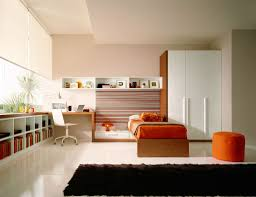 bedroom white bedroom design idea hite wardrobe oange bed black