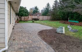 paver patio u0026 fence in south olympia ajb landscaping u0026 fence