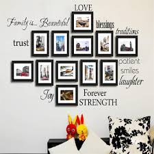 blessing for the home newest diy warm family rule words photo frame decals blessing