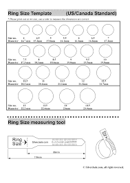 ring sizes mens great ring sizer template images exle resume ideas alingari
