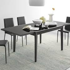 Grey Extendable Dining Table Modern Glass Dining Kitchen Tables Allmodern