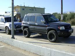 mitsubishi pajero io 2000 what wheels to suit pajero io with lift less offset pajero io