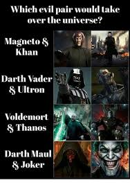 Darth Maul Meme - which evil pair would take over the universe magneto khan darth