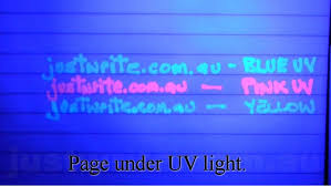 uv marker and light security marker invisible ink pen fine point blue
