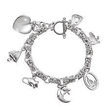 sterling silver crystal heart bracelet images Charm bracelets franki baker jewellery jpg