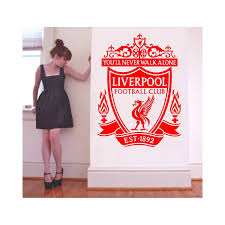 liverpool fc wall sticker highly detailed football club logo lvfc buy large liverpool fc vinyl wall art sticker x x at liverpool football club gifts