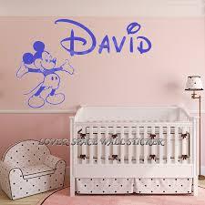 custom wall decals for nursery aliexpress com buy personalized name walt mickey mouse custom