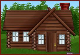 how to draw a log cabin house step by step buildings landmarks