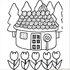 candy house coloring free buildings coloring pages
