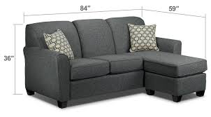 living room grey microfiber sleeper sofa with arms and back