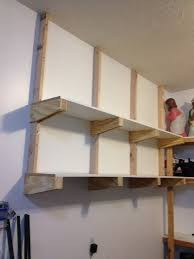Garage Wall Shelves by Living Room Wall Shelves For Garage With Regard To Storage And