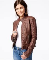 leather moto jacket jou jou faux leather moto jacket coats women macy u0027s
