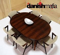 mid century danish modern gunni omann omann jun rosewood dining