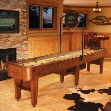 shuffle board in game room brunswick andover shuffleboard table