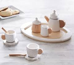 teapot set wooden tea set pottery barn kids