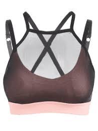 light pink sports bra mesh tube sports strappy bra light pink sports bras l zaful