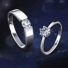 sterling diamond rings images Couple rings for engagement tanishq 925 sterling silver high jpg