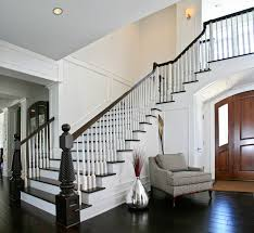 interior architectural straight run stair with open tread and
